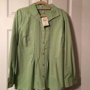 Sage green blouse